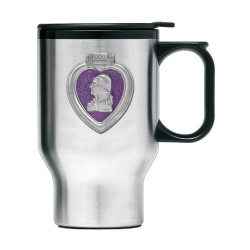 Purple Heart Thermal Travel Mug - Enameled
