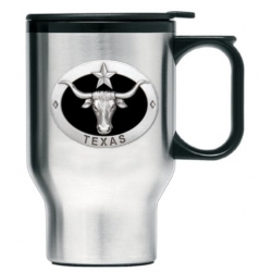 Texas Longhorn Thermal Travel Mug - Enameled
