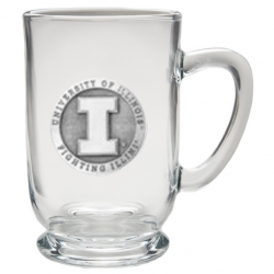University of Illinois Clear Coffee Cup