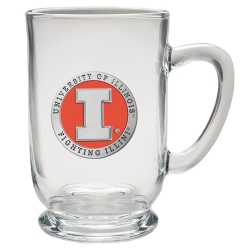 University of Illinois Clear Coffee Cup - Enameled