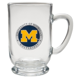 University of Michigan Clear Coffee Cup - Enameled