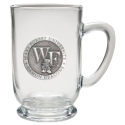 """Wake Forest University """"WF"""" Clear Coffee Cup"""