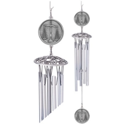 "Law - Scales of Justice 24"" Wind Chime"