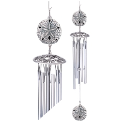 "Sand Dollar 24"" Wind Chime"
