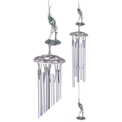 "Lady Golfer 24"" Wind Chime"