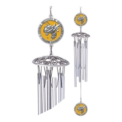"Georgia Institute of Technology ""Yellow Jacket"" 24"" Wind Chime - Enameled"