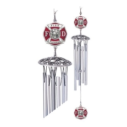 "Firefighter 24"" Wind Chime - Enameled"