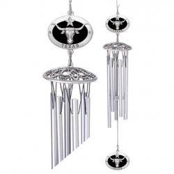 "Texas Longhorn 24"" Wind Chimes - Enameled"