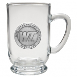 West Texas A&M University Clear Coffee Cup