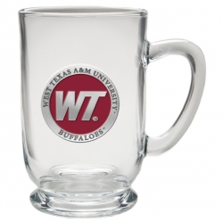 West Texas A&M University Clear Coffee Cup - Enameled