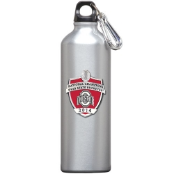 2014 BCS National Champions Ohio State Buckeyes Water Bottle  - Enameled