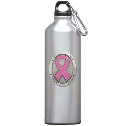 Pink Ribbon Water Bottle - Enameled