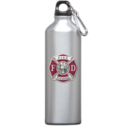 Firefighter Water Bottle - Enameled