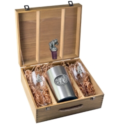 Grizzly Bear Wine Set w/ Box