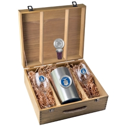 Air Force Wine Set w/ Box - Enameled