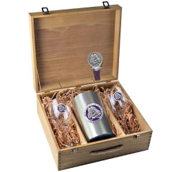 East Carolina University Wine Set w/ Box - Enameled