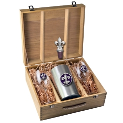 Fleur de Lis #3 Wine Set w/ Box - Enameled