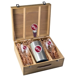 "Florida State University ""FSU"" Wine Set w/ Box - Enameled"