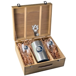 "2010 BCS National Champions Auburn University ""Tigers"" Wine Set w/ Box - Enameled - Helmet"