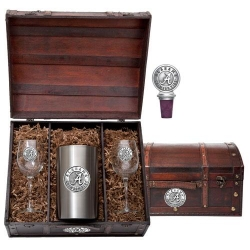 "Alabama ""A"" Crimson Tide Wine Set w/ Chest"