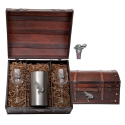 Alligator Wine Set w/ Chest