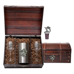 Hummingbird Wine Set w/ Chest #2