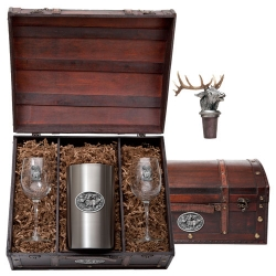 Elk Wine Set w/ Chest