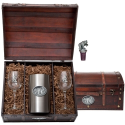Buffalo Wine Set w/ Chest