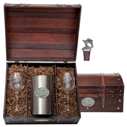 Hummingbird Wine Set w/ Chest