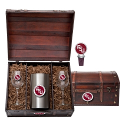 "Florida State University ""FSU"" Wine Set w/ Chest - Enameled"