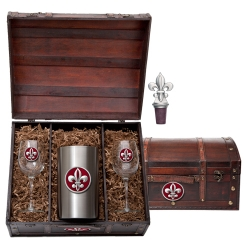 Fleur de Lis #2 Wine Set w/ Chest - Enameled