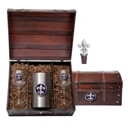 Fleur de Lis #3 Wine Set w/ Chest - Enameled