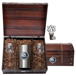 "2010 BCS National Champions Auburn University ""Tigers"" Wine Set w/ Chest - Enameled - Helmet"
