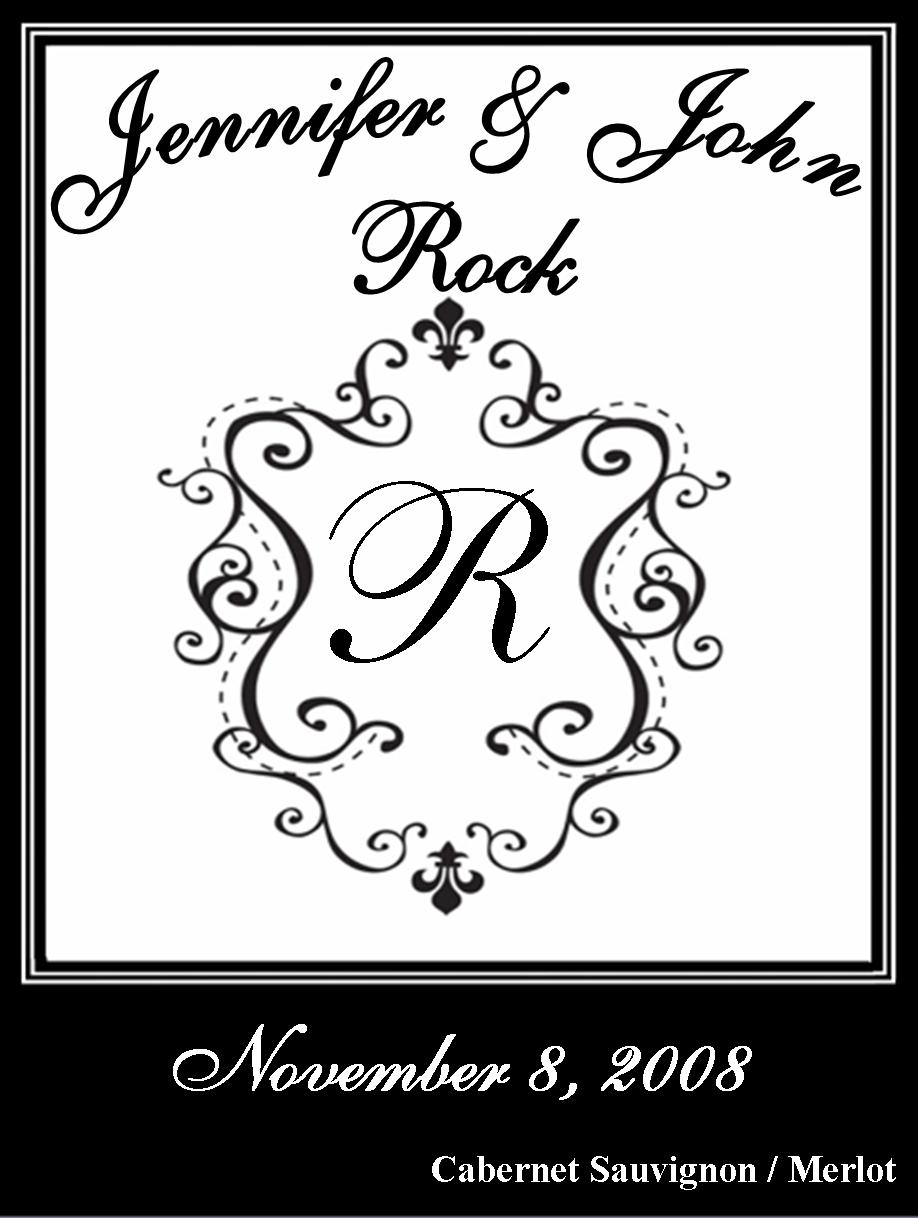 Personalized Wedding Wine Bottle Label