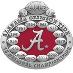 2012 BCS National Champions University of Alabama