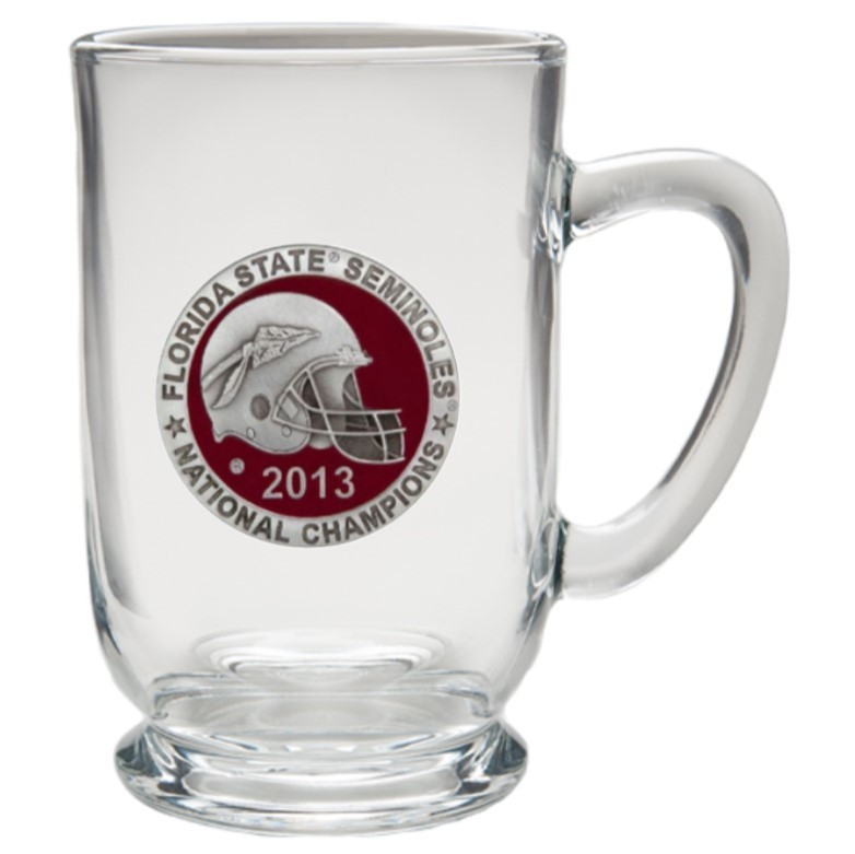 2013 BCS National Champions Florida State Seminoles Clear Coffee Cup - Enameled
