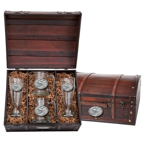 Motorcycle Beer Set w/ Chest