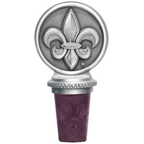 "Louisiana at Lafayette ""Ragin' Cajuns"" Pewter Bottle Stopper"