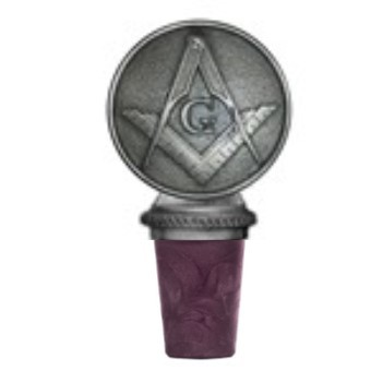 Masonic Square & Compass Bottle Stopper