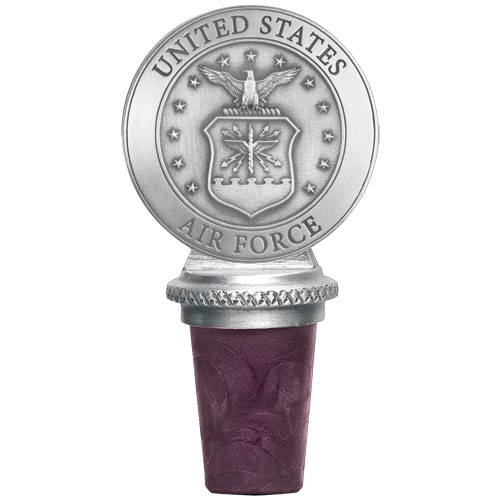 "Air Force ""Crest"" Pewter Bottle Stopper"