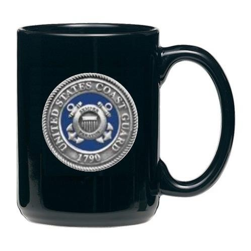 Coast Guard Black Coffee Cup - Enameled