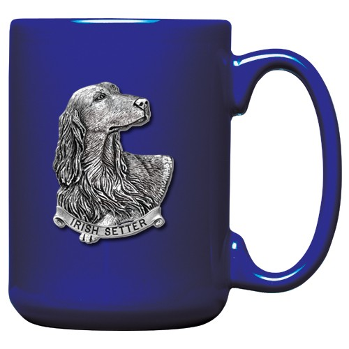 Irish Setter Cobalt Coffee Cup
