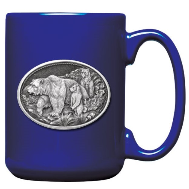 Grizzly Bear Cobalt Coffee Cup #2