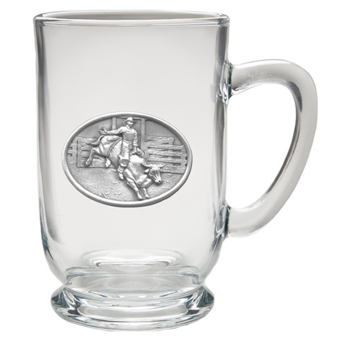 Bull Rider Clear Coffee Cup