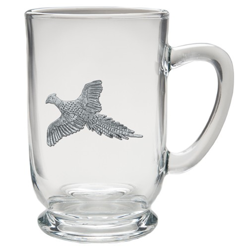 """Pheasant """"Flight"""" Clear Coffee Cup"""