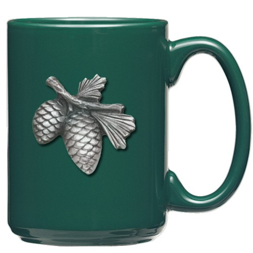 Pine Cone Green Coffee Cup