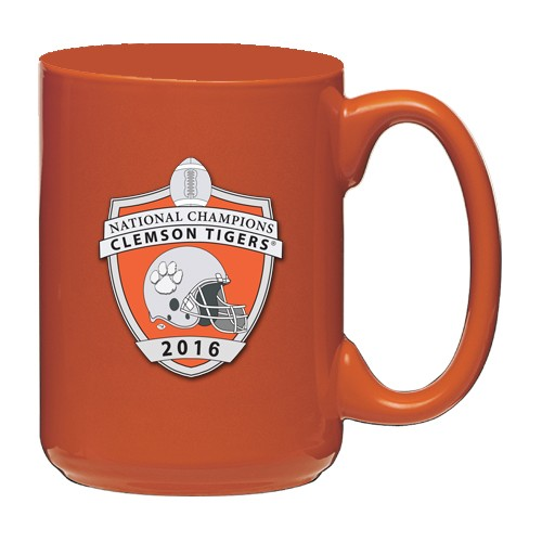 2016 CFP National Champions Clemson Tigers Orange Coffee Cup - Enameled
