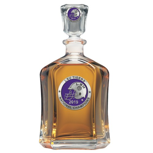 "2019 CFP National Champions Louisiana State University ""LSU"" Tigers Capitol Decanter - Enameled"