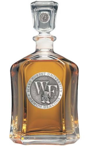 "Wake Forest University ""WF"" Capitol Decanter"