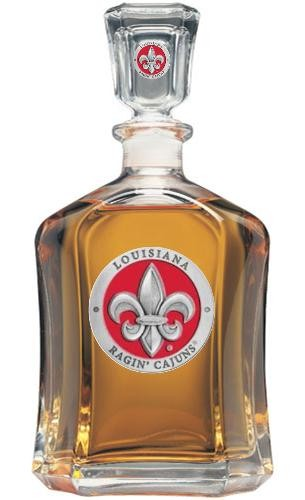 Louisiana at Lafayette Capitol Decanter - Enameled